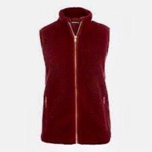nwt jcrew fleece vest h1197